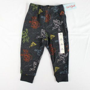 Cat & Jack Toddler Boys Gray Jogger Sweatpants 2T